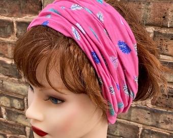 "Scrunch Headbands / Hair Wraps / Head Wraps, 14""-22"" Hair Coverings in multiple prints"