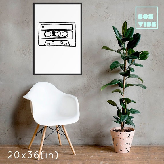 Minimalist Wall Decor 80s Home Decor Cassette Tape Hipster Etsy