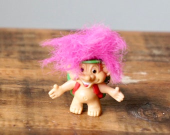 Mini Player Collectible Pencil Topper Hair Present Birthday Football Son 1990s Troll 1980s Gift Party Favour Yellow Vintage