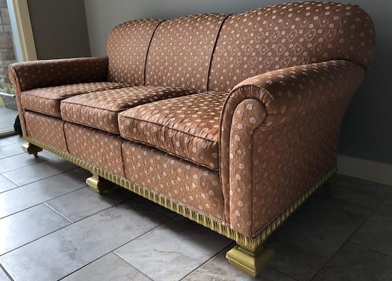 Swell Vintage Grace Kelly 1940 1950 Rose Gold Sofa Lamtechconsult Wood Chair Design Ideas Lamtechconsultcom