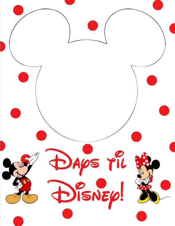 graphic about Disney Countdown Printable identify Disney Countdown PDF