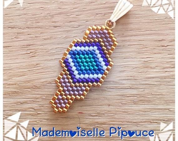 Pendentif Gaïa coeur turquoise femme