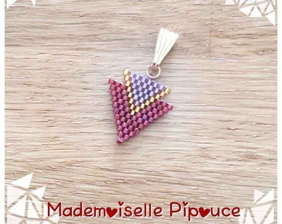 Métis craneberry pendant and purple women