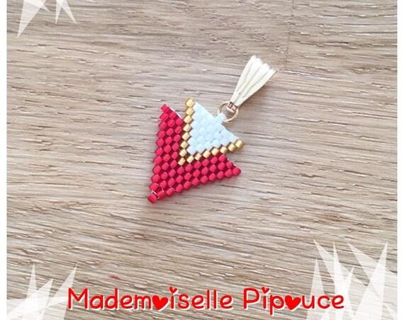 Red woman Métis pendant
