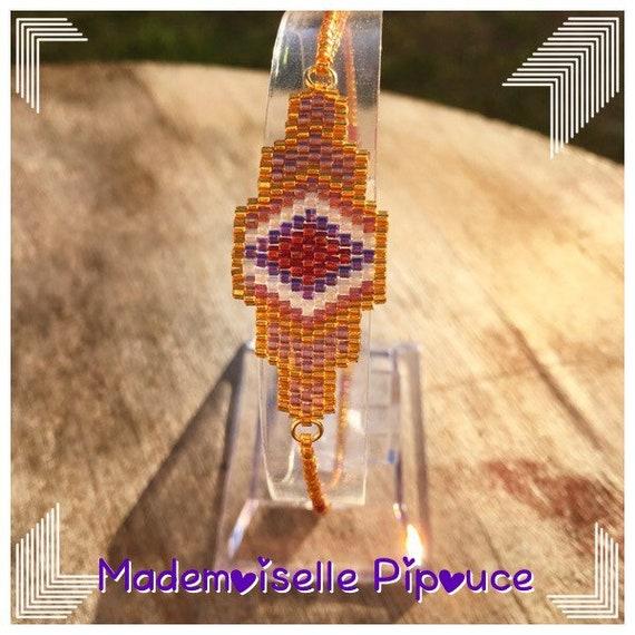 Bracelet femme violet Gaïa