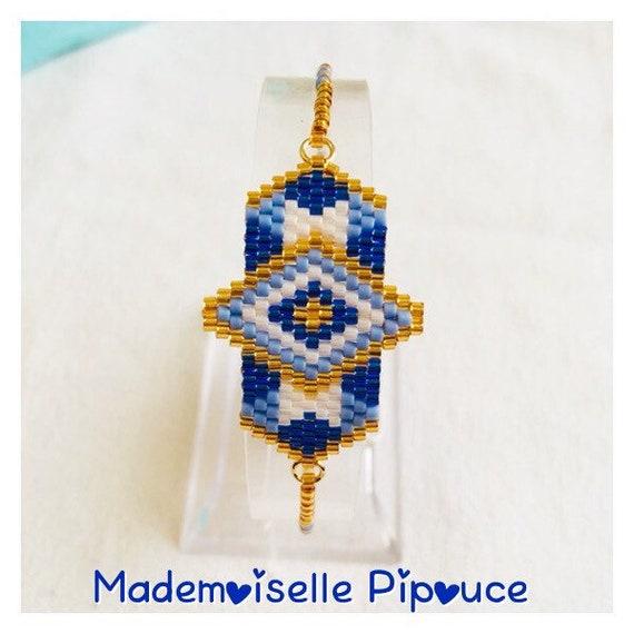 "Bracelet ""héra"" woman blue"