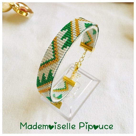 Green bracelet beads ethnic woman
