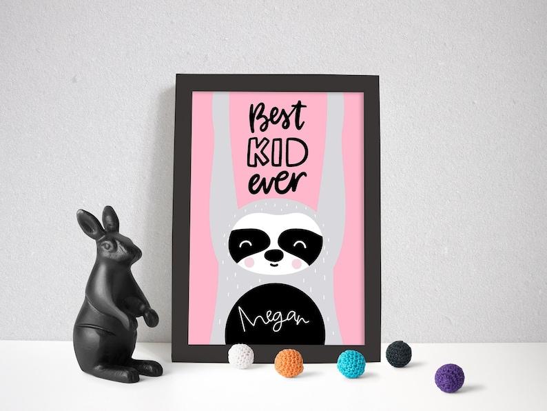 Children/'s Print-Quote-Kids Decor-Mono Boys Rule A4 Print-Bedroom-Nursery Print
