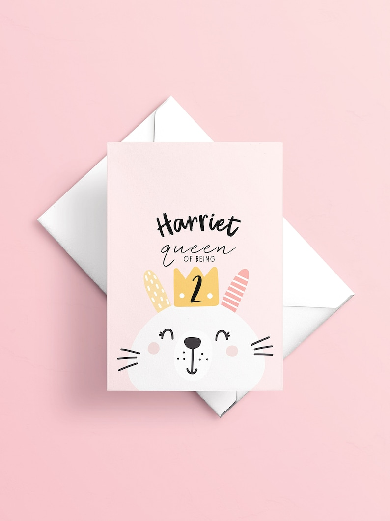 Personalised Girls 2nd Birthday Card Daughter