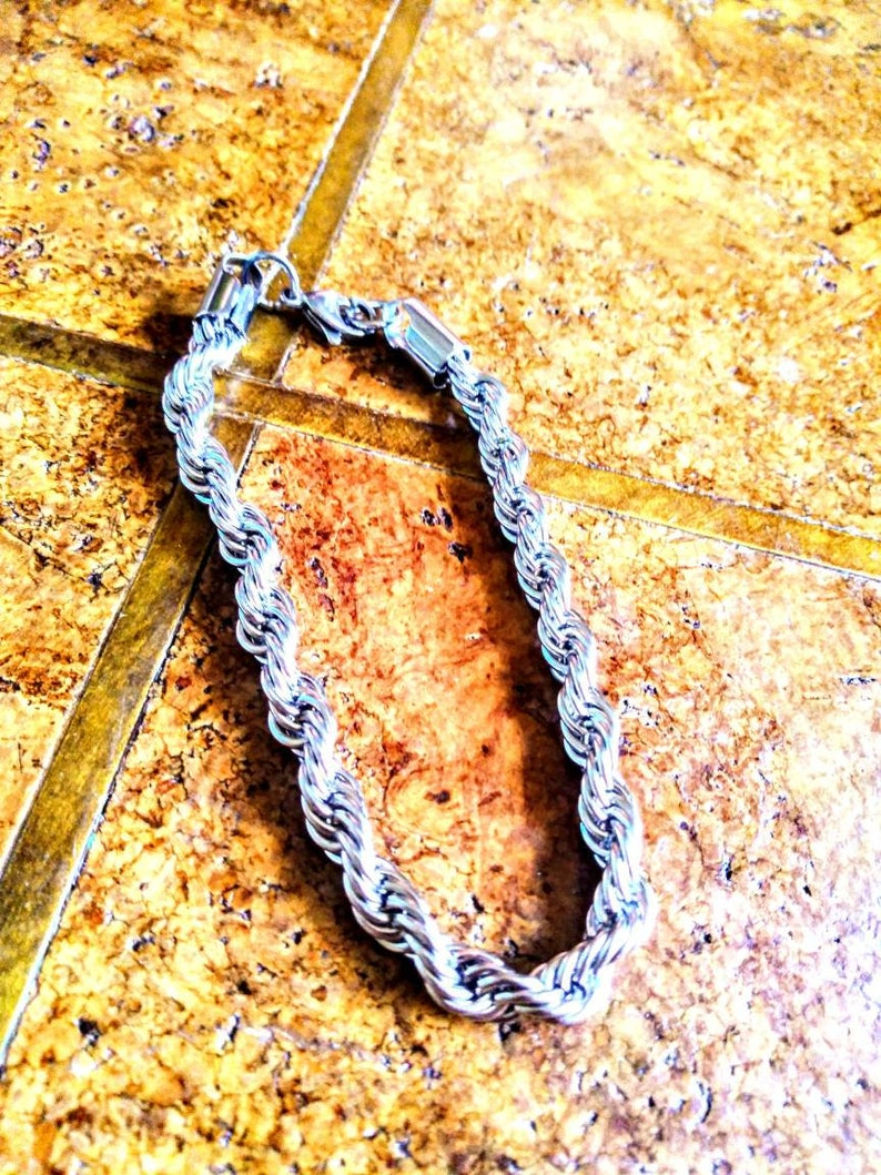Stainless Steel Rope Bracelet 8.00 in.
