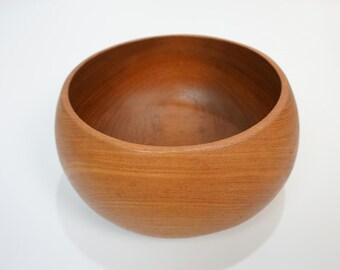 60s teak bowl teak bowl wood bowl fruit bowl