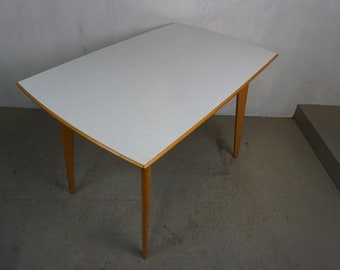 Cult kitchen table with resopal plate in typical fifties pattern