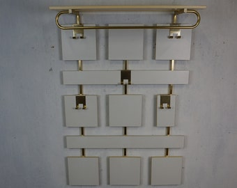 Noble wardrobe of the 60s 70s in white and gold mid century hallway furniture vintage