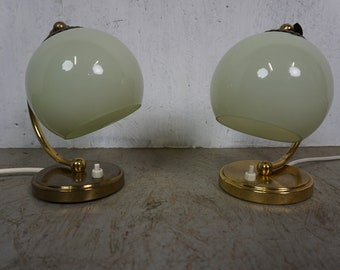 Beautiful table lamps set of 2 50s 60s Mid Century vintage hanging lamp bedside lamp