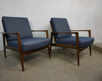 Walter Knoll Antimott Armchair Set Design Wilhelm Knoll Mid Century 50s 60s Walnut