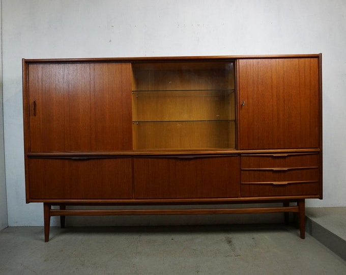 Featured listing image: Noble teak highboard by Bartels in Danish Modern style