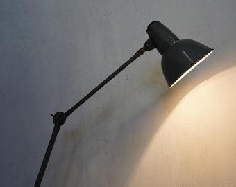 40's 50's workshop lamp SIS industrial lamp Industiral Design clamp lamp loft