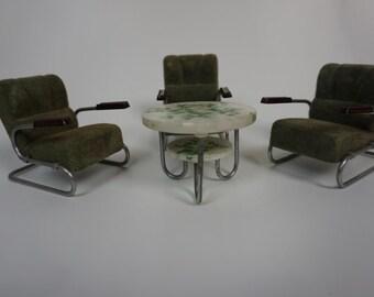 Original Mauser Model Furniture LoopTable Armchair Bauhaus Steel Tube Furniture Dollhouse 50's Rar Design Classic