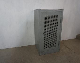 Stylish metal cabinet in industrial look