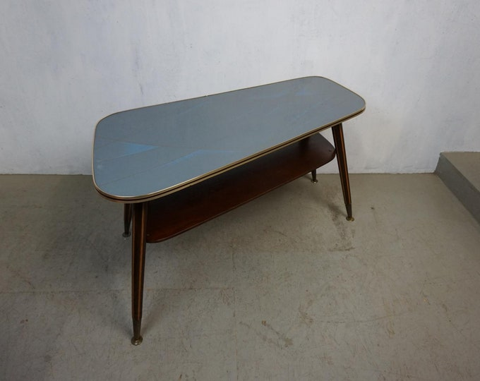 Featured listing image: Beautiful kidney table with glass top in typical fifties pattern