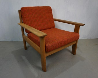 70s Armchair Walther Knoll Antimott Oak Easy Chair Mid Century Design Vintage Red