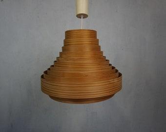 Scandinavian ceiling lamp hanging lamp 50s 60s wood veneer Mid Century Vintage Scandi