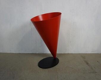 Conical plastic trash by Angelo Cortesi & Sergio Chiappa-Gatto for Kartell