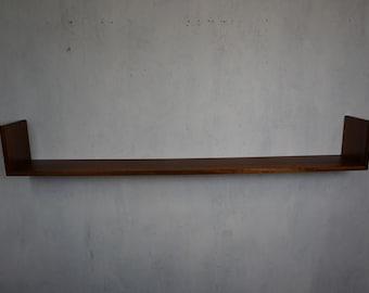 Noble wall shelf in solid teak 50s 60s Mid Century Vintage