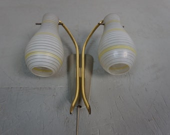 50s 60s wall lamp lamp Fifties bag lamp brass mid century vintage shrink lacquer