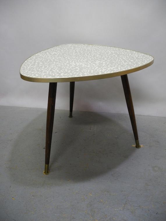 50er 60er Nierentisch Beistelltisch Resopal Tisch Rockabilly Etsy