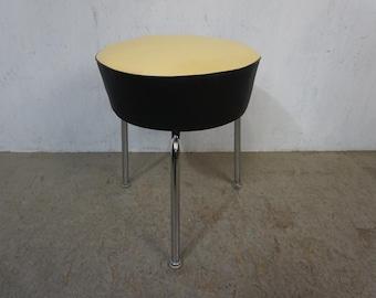 Original Mauser Tripod stool with chrome-plated tubular steel frame
