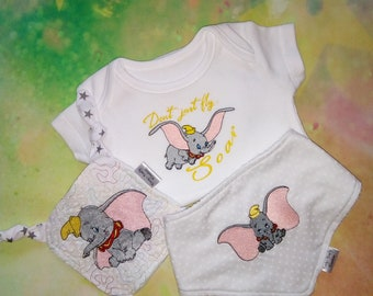 6f90c8d3ad58 Dumbo baby bib