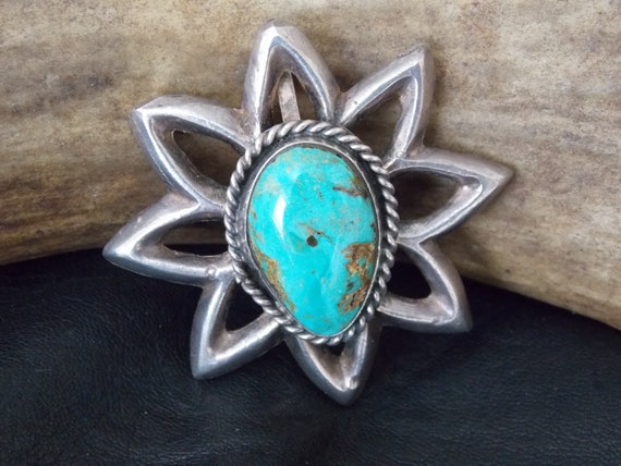 Size 8.25 Glowing Vintage Celestial Shooting Star /& Amethyst Cabochon Orb Ring by Native American Zuni Artist Ben Livingston