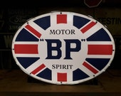 BP Motor Spirit Classic Oil Light Box Wall Sign Garage Automobilia illuminated Advertising Car Dealer Dealership Esso Shell Texaco Petrol