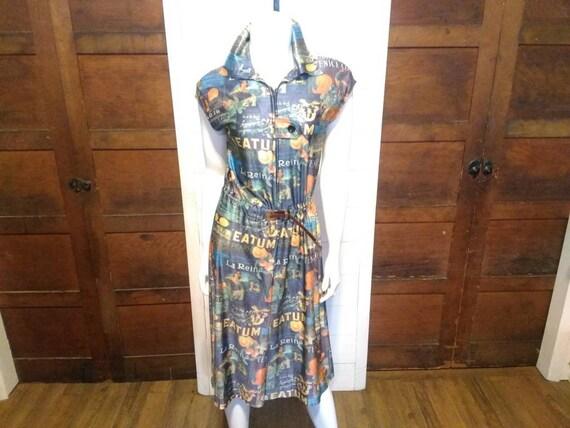 Vintage Handmade Small Fruit Dress