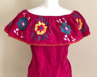 cc1ba58f0b4 XL-XXL- Embroidered Mexican Off Shoulder Blouse