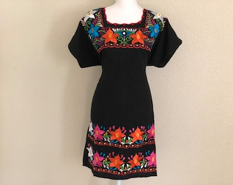 469024c9c Large- Embroidered Mexican Tie Back Dress