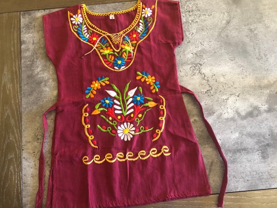 2t Girls Embroidered Mexican Dress Vestido Bordado Para Niña