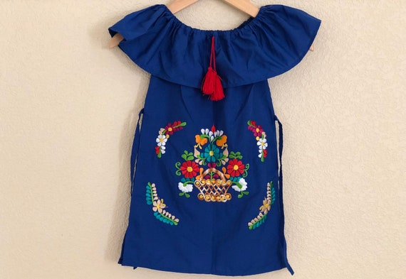 4t Girls Embroidered Mexican Dress Vestido Bordado Para Niña Fiesta Dress