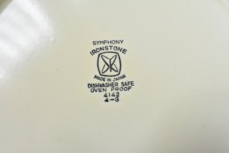 Vintage Ironstone Symphony Japan Embossed Dinnerware Collection 4142 Oven Safe