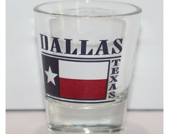 Dallas Texas Square Shot Glass 4-Pack