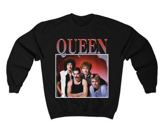 Queen Band Sweatshirt Queen Band Merchandise Merch Queen Sweatshirt Unisex  Freddie Mercury Shirt c45c4f5ffbd38