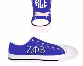 0c80183bf11e CUSTOM Zeta Phi Beta Converse Style Sneakers