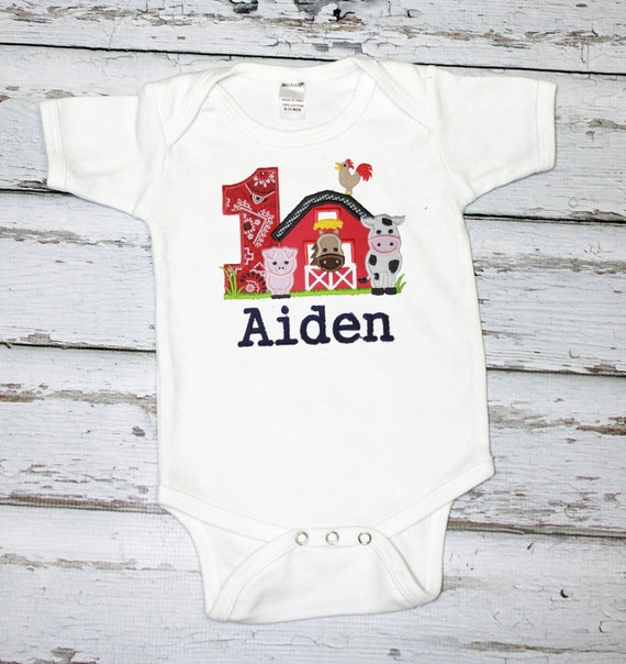 first birthday farm shirt