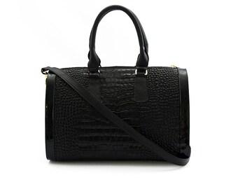 fc926d2760 Crossbody Bag - Black Leather Bag - Black Satchel - Tote Bag - Leather Purse  - Handmade Handbag