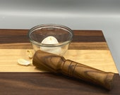 Wooden masher, garlic and spice crusher, hand made wood pestle