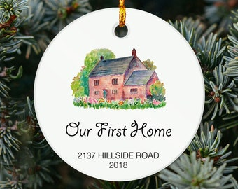 Our First Home Ornament - Personalized Ornament- Housewarming Gift - Our First Christmas At OR18 and OR20