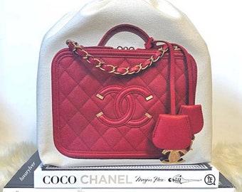 ea0da6029fd9 Custom Printed STORAGE DUSTBAG for Designer Handbag (Small) / <<dustbag for  Medium Filigree Vanity Case>>