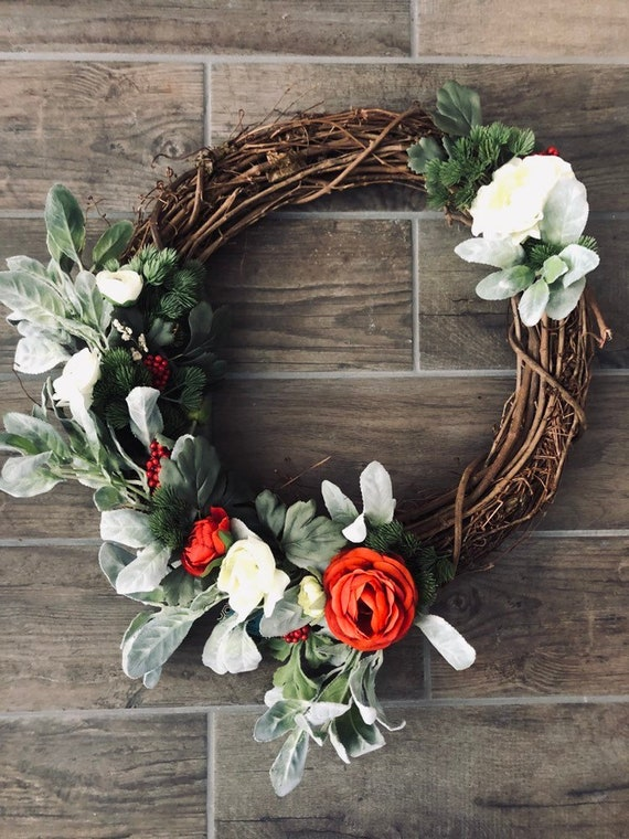 Beautiful Christmas Wreath For Front Door Or Fireplace Etsy