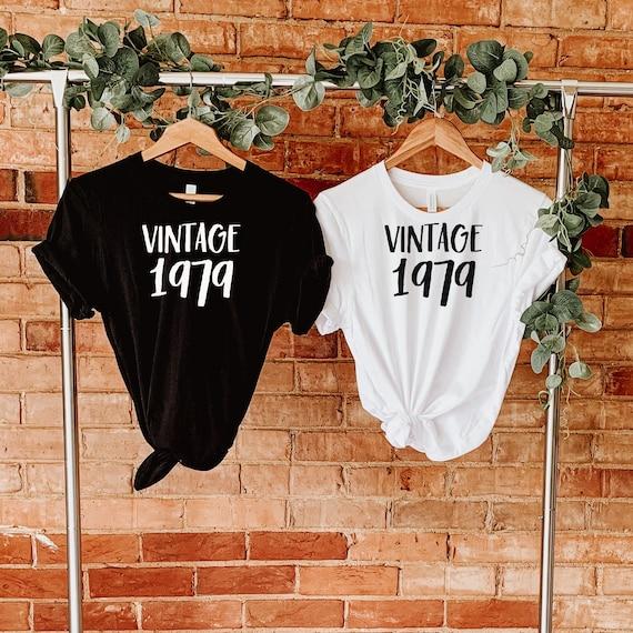 Custom Vintage Year Shirt, Customize Year T Shirt, Personalized Vintage Any Year Tshirt, Birthday Shirt, Birthday Gift Tshirt, Party Shirt